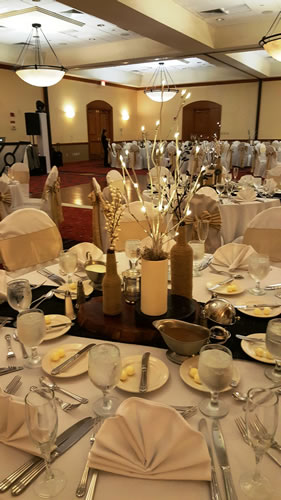 Gold And Ivory Table